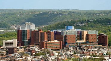 UPMC Children's Hospital of Pittsburgh aeriel building view