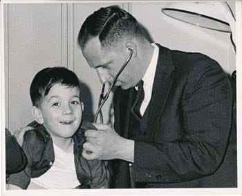 Dr. Vincent Albo and patient, 1950's