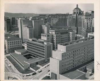 Aerial view of Children's Hospital of Pittsburgh, 1959