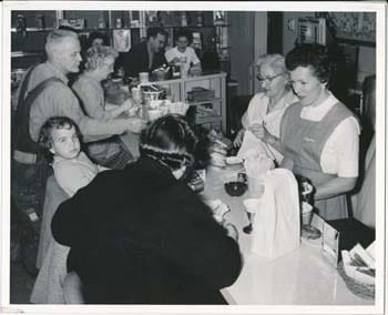 Mrs. H. Sherman, Snack Shop Volunteer, 1960
