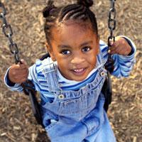 Sickle Cell Preschoolers girl swing