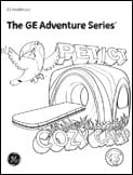Radiology Adventure Series Coloring Books PET-CT scan boy