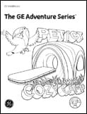 Radiology Adventure Series Coloring Books PET-CT scan girl