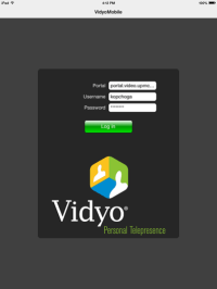 Log into the Vidyo page.