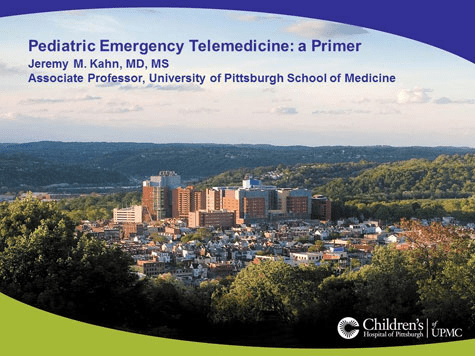 Pediatric Emergency Telemedicine Video