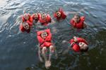 Lake and girls - Camp Chihopi