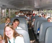 Camp Chihopi kids on the bus