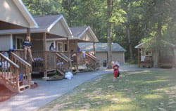 Camp Chihopi cabins.