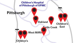 Find a Location Children's Hospital of Pittsburgh of UPMC.