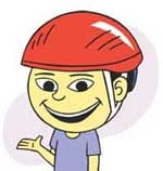 Injury Prevention Helmet Fitting cartoon