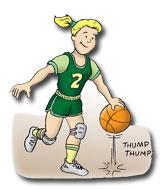 Injury Prevention Basketball cartoon