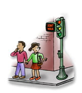 Injury Prevention Street Safety cartoon