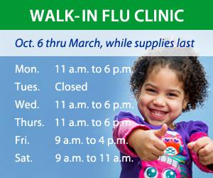Walk-In Flu Clinic schedule