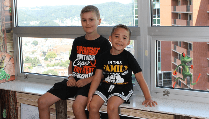 Marco and Brock give back to the Hematology/Oncology department at UPMC Children's Hospital of Pittsburgh