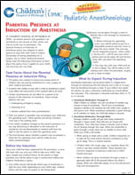 Parental Presence at Induction of Anesthesia PDF