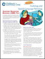 Auditory Brainstem Response (ABR) Test | Children's Hospital ...