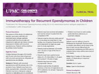 Immunotherapy for Recurrent Ependymomas in Children