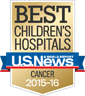 U.S. News Best Children's Hospital Cancer 2015-2016