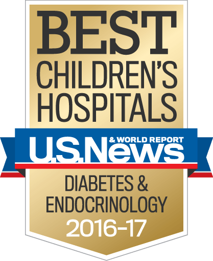 US News Best Children's Hospital Endocrinology & Diabetes 2016-2017.