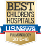 U.S. News Best Children's Hospital Pulmonology 2015-2016